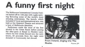 (1998 AU) Melbourne Comedy Fest